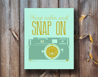 Keep Calm and Snap On - Vintage Camera - Instant Download - Printable