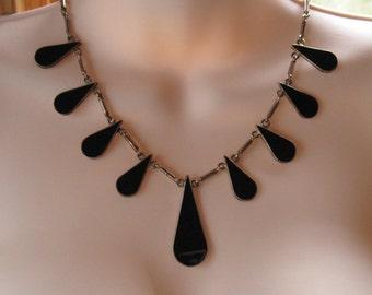 Mexican Modernist Teardrop Necklace -- 116