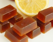 Lemon Hard Candy- Hard Honey Candy- Homemade Candy- Lemon Treat- Father's Day candy