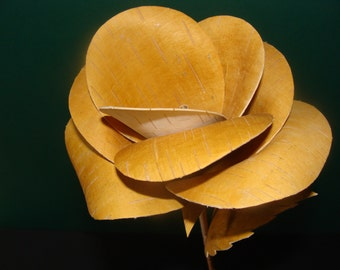 stylish rose from birch bark