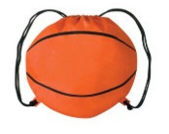 Basketball Cinch Bag - Makes a Great, AFFORDABLE Team Gift!