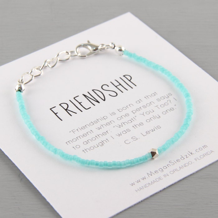 Friendship Quotes Jewelry: Best Friend Bracelet Geometric Best Friend Friendship