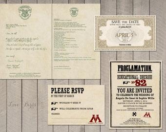 wedding invitation set the hobbit save the date invitation, Wedding invitations
