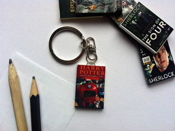 Harry Potter Book Keychain : Harry potter mini book keychain by just morechapter on etsy
