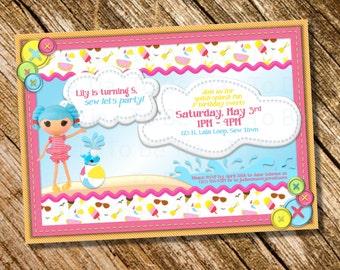 Customizable/Printable Girl's Lalaloopsy Swim/Splash Party Invitation