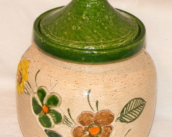 Vintage Stoneware Canister