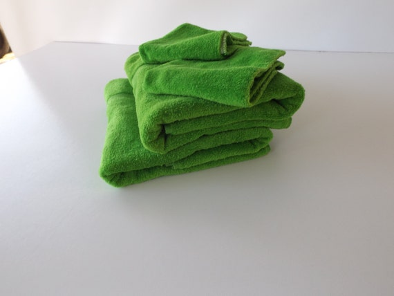 Vintage Cannon Towels St Marys Lime Green Guest Towel