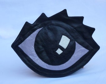 "I Can See You Leather Clutch ""Evil Eye"""