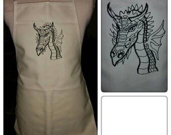 Child's apron. Dragon