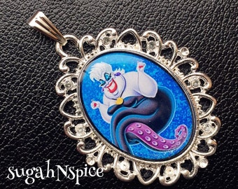 Disney's The Little Mermaid Queen Ursula Evil Queen Ursula Necklace Pendant Ursula Pendant Ursula Necklace  Little Mermaid Pendant