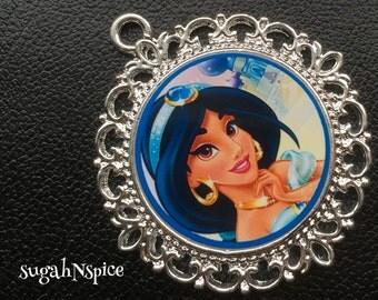 Princess Jasmine Pendant - Princess Jasmine Necklace - Jasmine Necklace - Jasmine jewelry - Jasmine and Aladdin
