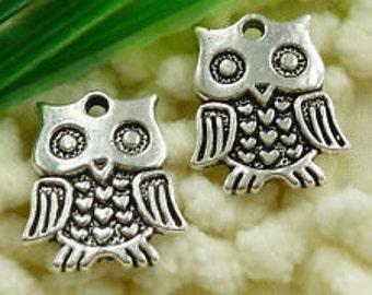 tibetan silver owl qty 10