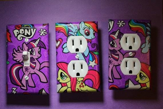 my little pony light switch socket cover set girls childs kids room