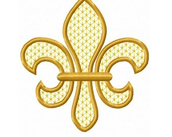 Fleur De Lis  Applique Machine Embroidery DESIGN NO.338