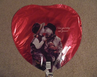 "Kim Anderson ""I love you today and forever"" 18 inch Mylar Foil Balloon"