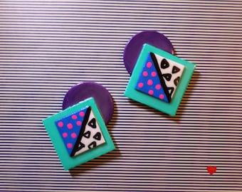 Color Pop Geometric Earrings