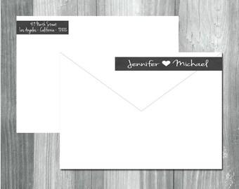 Wrap Around Return Address Labels, Return Address Stickers, Mailing Label Stickers, Rectangular Address Labels, Chalkboard Labels