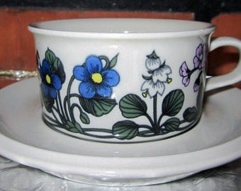 Arabia of Finland Flora Tea cup and saucer