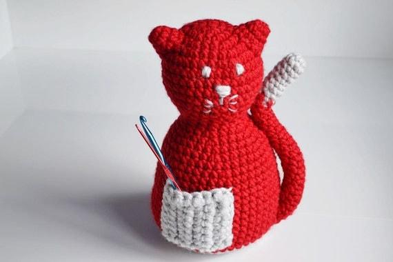Katzenspielzeug für Baby häkeln Katze sicheres Spielzeug für