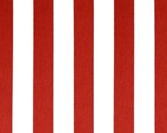 Red Valance. Red valence. Red Striped  Valance .Window Topper.