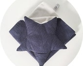 Soft toys square navy blue and grey / star