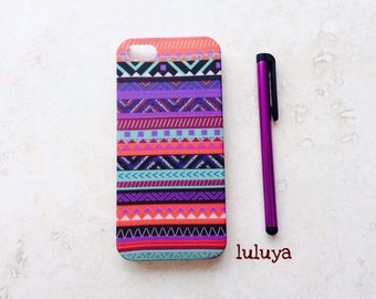 Aztec Tribal Iphone 5 5S Case Cover  with a Stylus Teen Gift Trendy