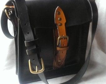 Mens Black Messenger Bag,shoulder Bag/Satchel Bag