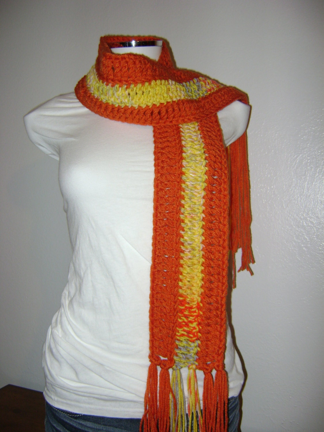 burnt orange scarf handmade scarf scarves by