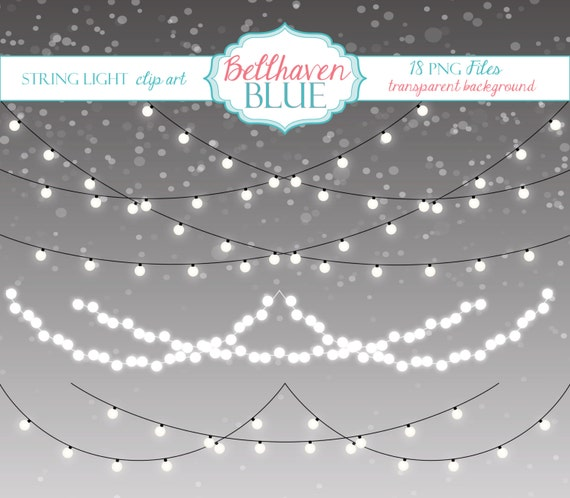 String Lights Art : String Light Clip Art by BellhavenBlue on Etsy