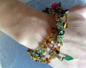 Tiger Eye DIY Wrap Bracelet