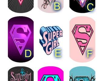 Large Dog Tag Necklace Girls (Super Girl,Dino,Girls Rock)