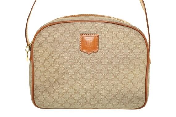 b9ae76ea082 celine brown signature crossbody bag celine totes sale - Authentic Vintage  CELINE Paris Brown Macadam by TILDarling on Etsy ...