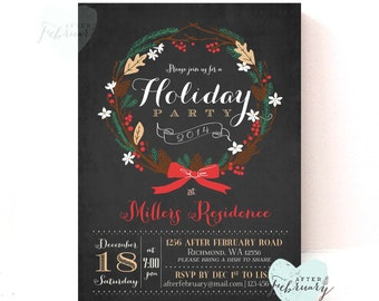 Holiday Party Invitation - Christmas Party Invitation - Christmas Invite - Printable Holiday Invitation - Printable No.442