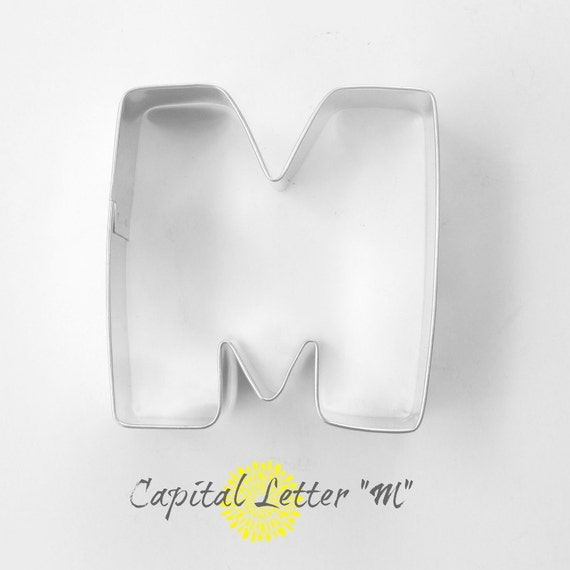 capital letter e cookie cutter from cookiecutterguy on capital letter m cookie cutter letter m by thebuttercuphouse 390