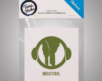 Electronic - Industrial [Music genre vinyl decal]