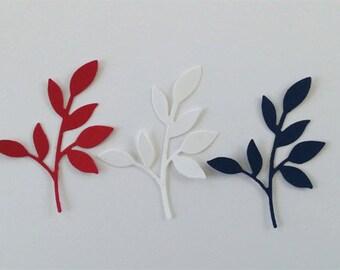 Die Cut Little Leaves