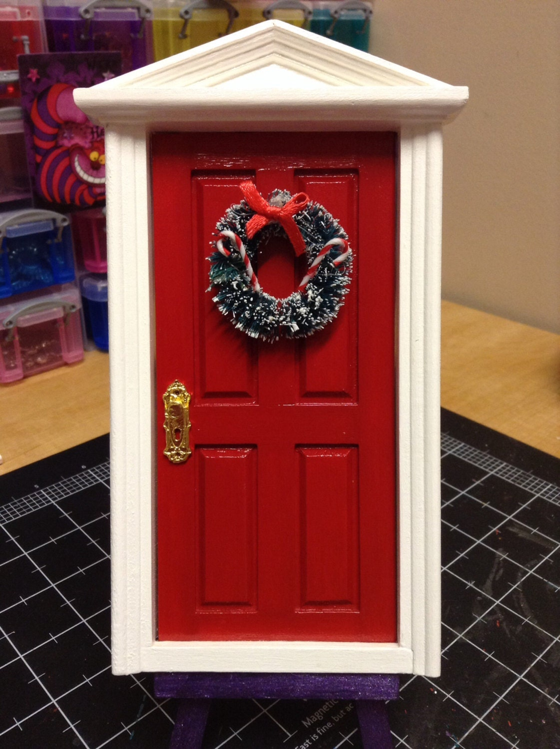 Christmas elf door magic holiday red santa claus north pole for The magic elf door