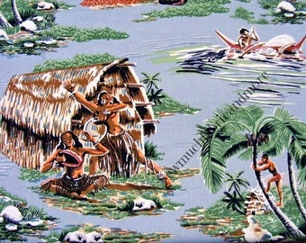 Road to Haleiwa Tropical Island Fabric~by the yard~cotton~Robert Kaufman~Hawaii