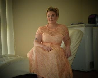 Apricot Sweet Heart Dress