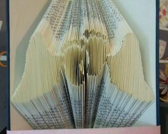PATTERN #314 Angel wing baby feet book folding pattern. 239 folds