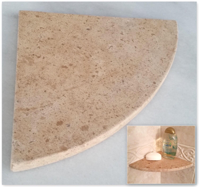 travertine shower corner shelf noce 8 natural stone by. Black Bedroom Furniture Sets. Home Design Ideas