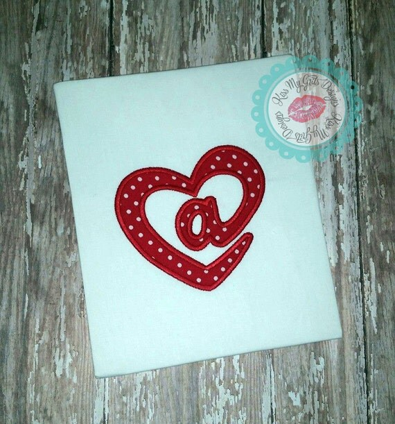 Heart ampersand machine embroidery applique design from for Ampersand decoration etsy