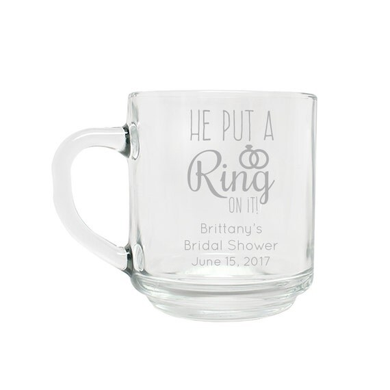 Wedding Favor Personalized Coffee Mug-Ring on It- Wedding Favors ...
