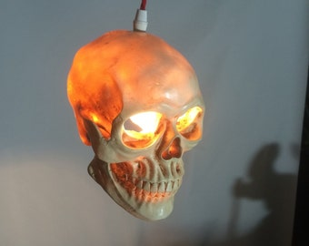 Skull pendant ceiling light