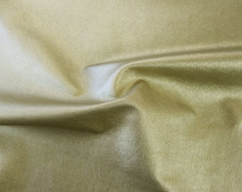 2-Way Stretch Faux Leather Fabric Gold. Sold by the yard.