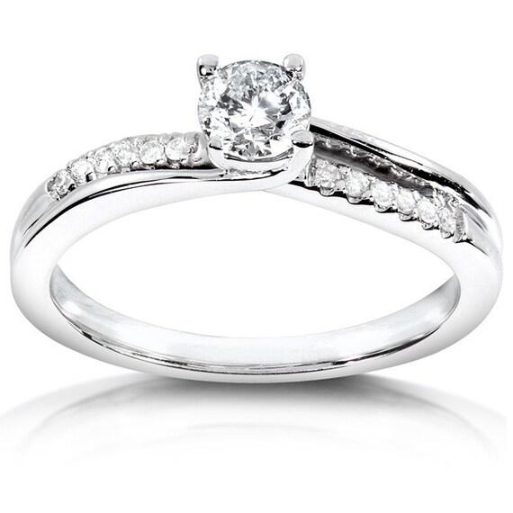 engagement ring 3 8 carat ctw in 14k white gold