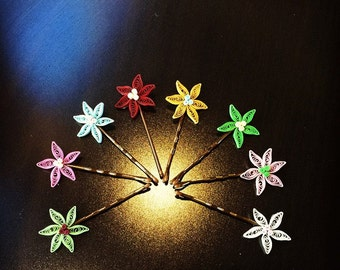 Quilling Lily FLower HairPin