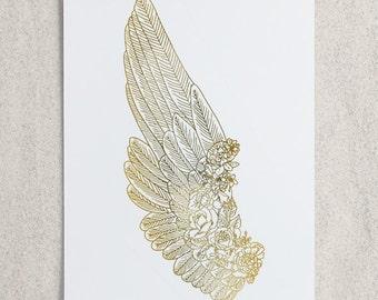 Zodiac - Virgo Wing Foil Print