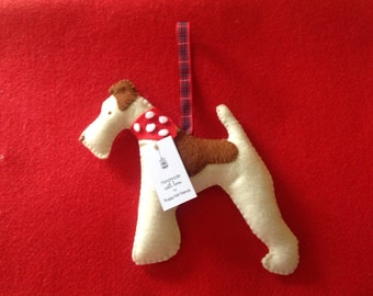Hanging Fox Terrier Decoration