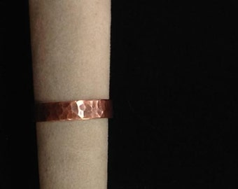 Yummy, planished copper ring. Size 7.5